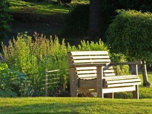 bench in gardens
