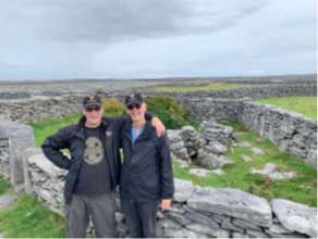 Celtic Christianity Pilgrim leaders Michael Mitton and Russ Parker at an old celtic christian site